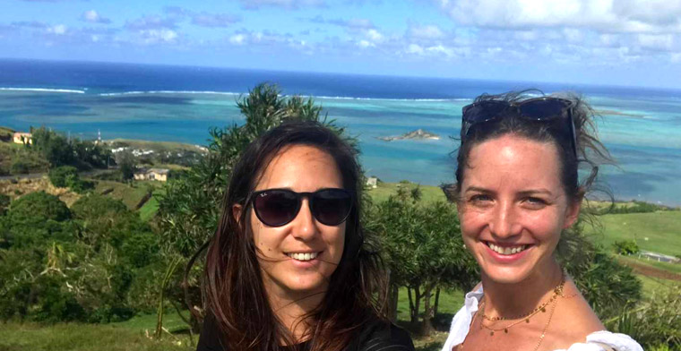 Fanny et Agathe à Rodrigues